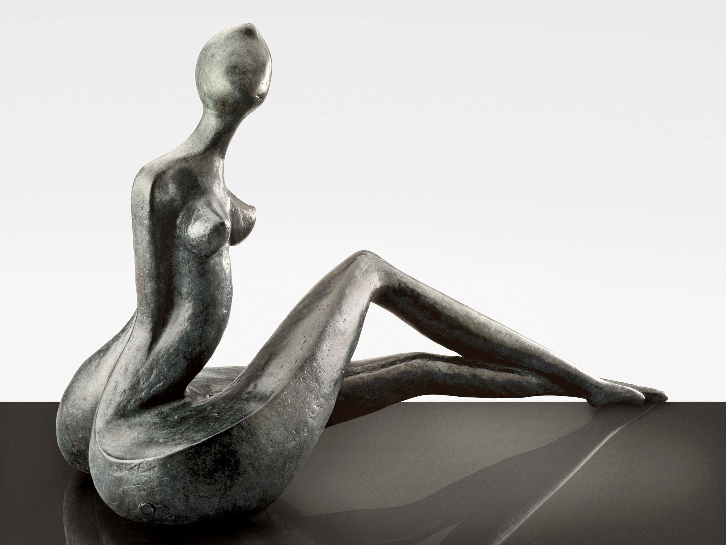 Femme, sculpture bronze de Marion Bürklé