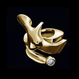 Nina, Ring 18 - carat gold and diamond, signed by the artist Marion Bürklé