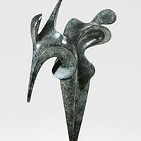 Duo, sculpture bronze de Marion Bürklé