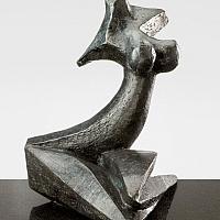 Perle noire, sculpture bronze de Marion Bürklé