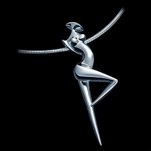 La Danseuse, Contemporary solid Silver Jewel by the artist Marion Bürklé